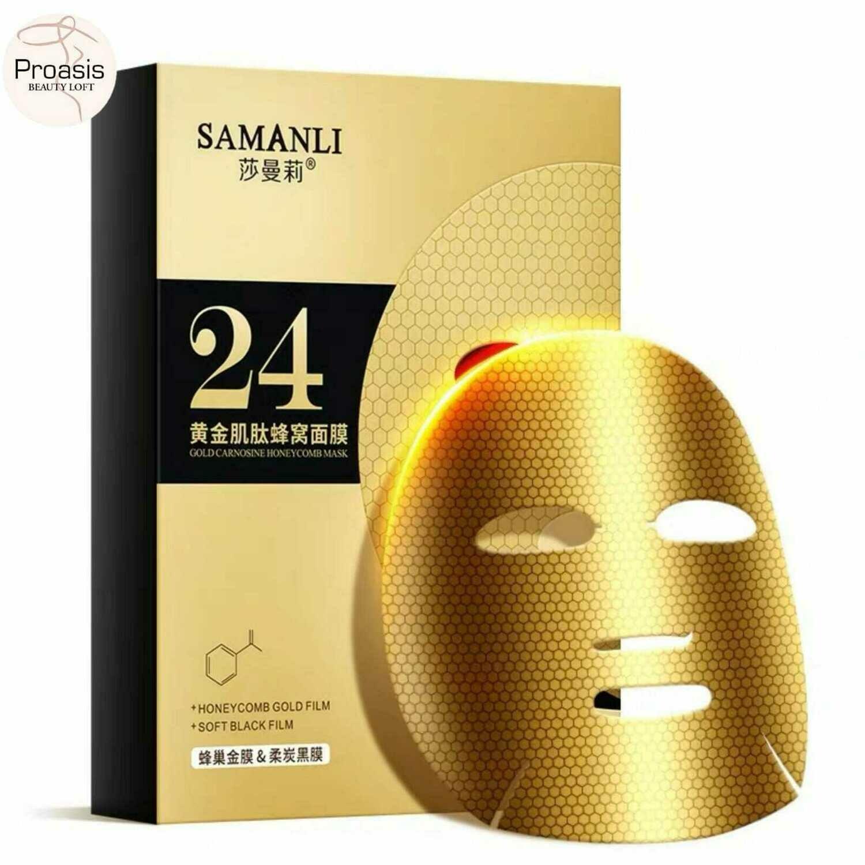SAMANLI Gold Carnosine Honeycomb Mask 3 boxes (15 sheets)