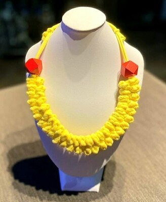 Bright Yellow Handmade Yarn Necklace