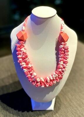 Sweetie Pink Handmade Yarn Necklace