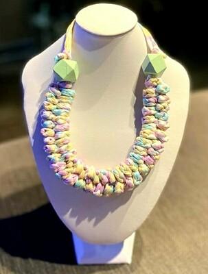 Rainbow Handmade Yarn Necklace