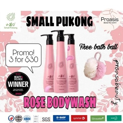 Small Pukong Rose Body Wash (300ml) Promo 3 bottles for $30