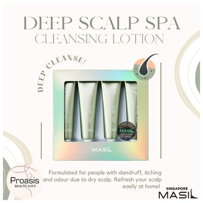 MASIL 12 Scalp Spa Cleansing Lotion (4 tubes in a box) Made In Korea