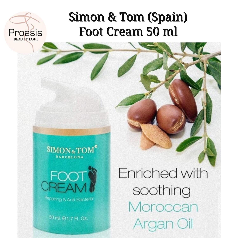 Simon & Tom (Spain Barcelona) Repairing and Anti-Bacterial Foot Cream 50 ml (Cracked Heels/Dry Skin)