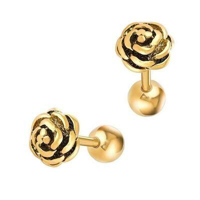 Titanium gold barbell