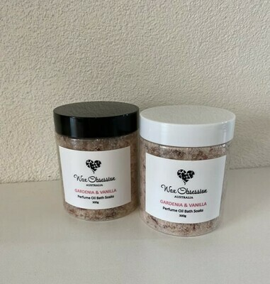 Bath Soaks - Perfume Oil: Gardenia Vanilla - LARGE