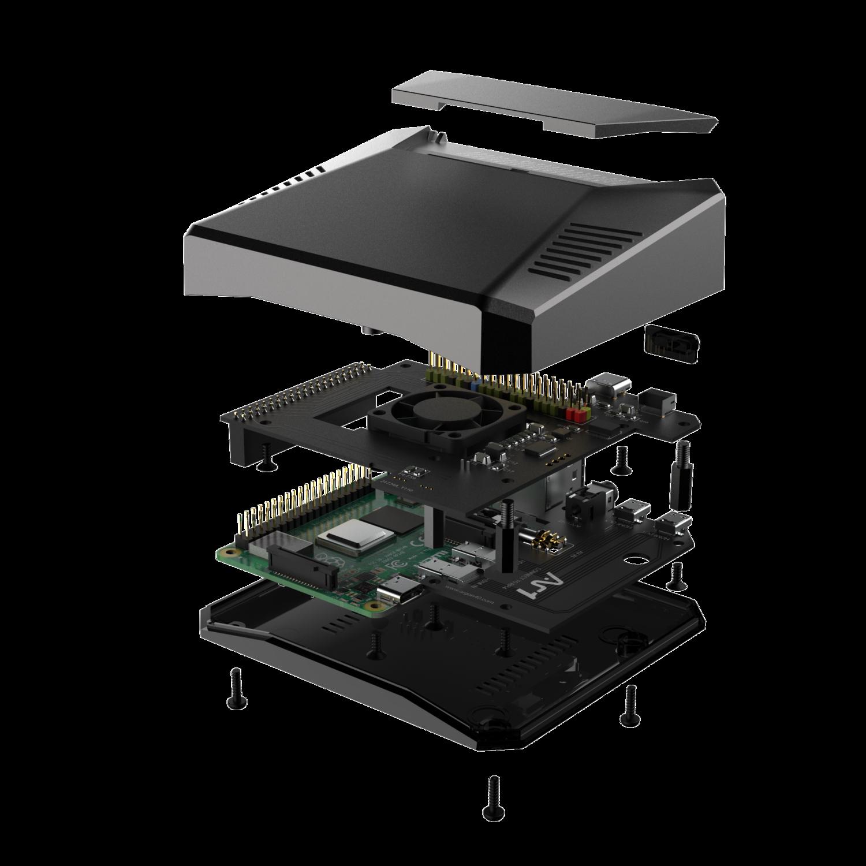 Argon ONE Pi 4 Case Aluminium Enclosure Power Switch+Passive Cooling+Fan [More Arriving SOON!]
