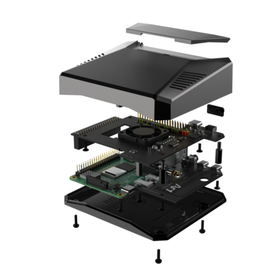 Argon ONE Pi 4 Case Aluminium Enclosure Power Switch+Passive Cooling+Fan [More Arriving SOON!]