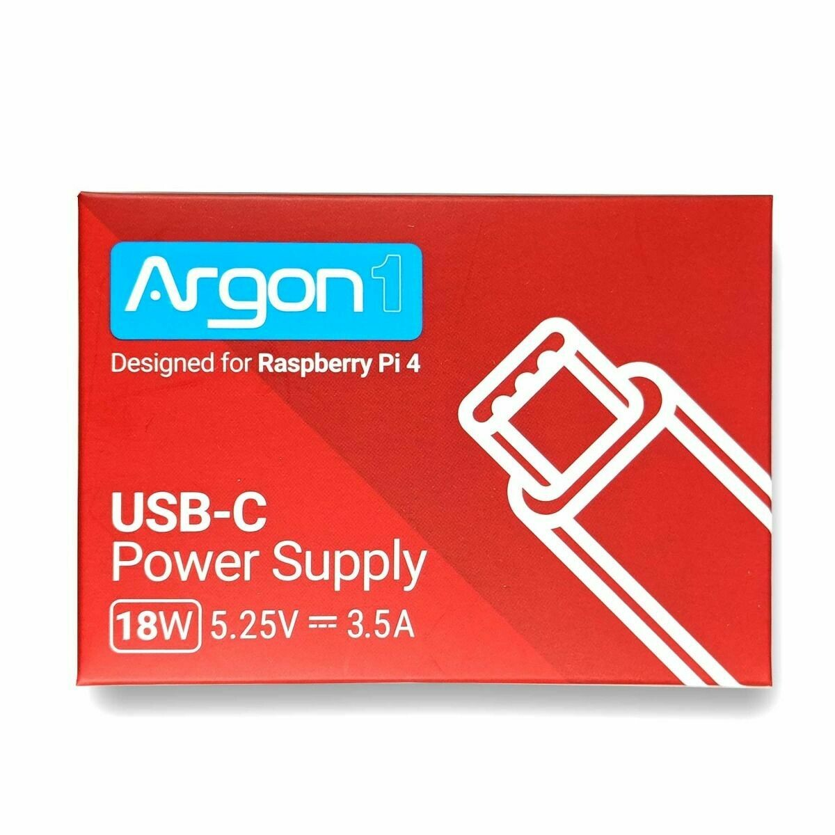 "Argon ""High Power"" Pi4 Adaptor.  (18w, 5.25v, 3.5a)"