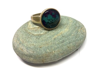 Ruby Rock Round Ring