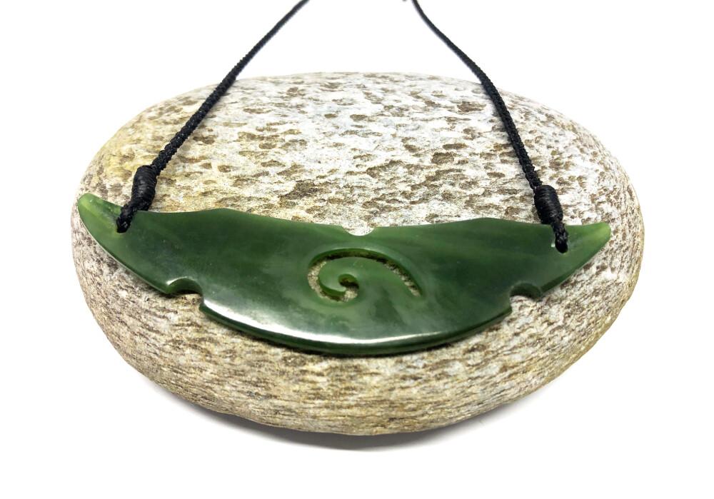 Jade Pounamu Greenstone Breastplate Pendant
