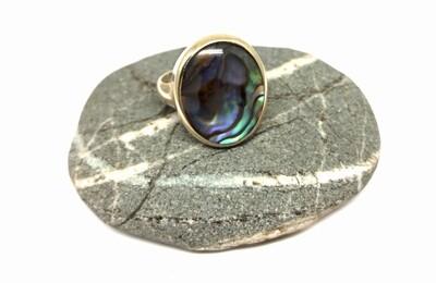 Oval Paua Shell Ring
