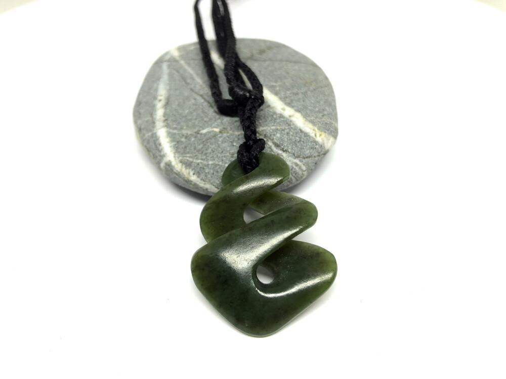 Kokapu Jade Twist Pendant