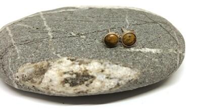 Small Flower Jade Stud Earrings