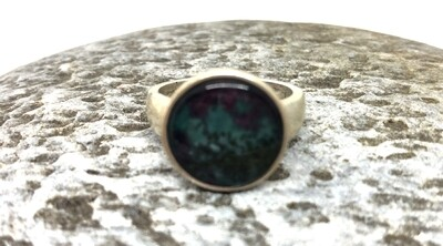 Ruby Rock Round Ring