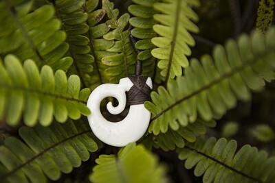 Bone Spiral Necklace