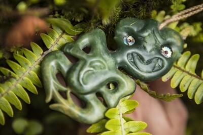 Jade (Pounamu) Hei Tiki Pendant