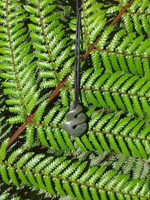 Kokopu Jade Twist Pendant