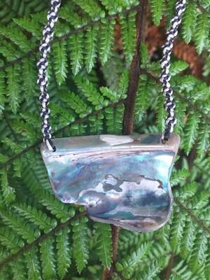 Paua Shell Plate Pendant