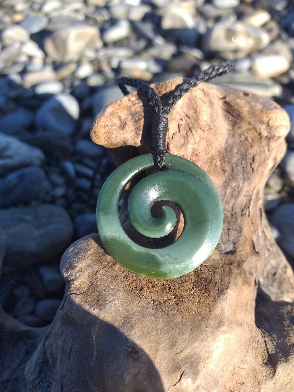 New Zealand Jade Pounamu Koru Pendant