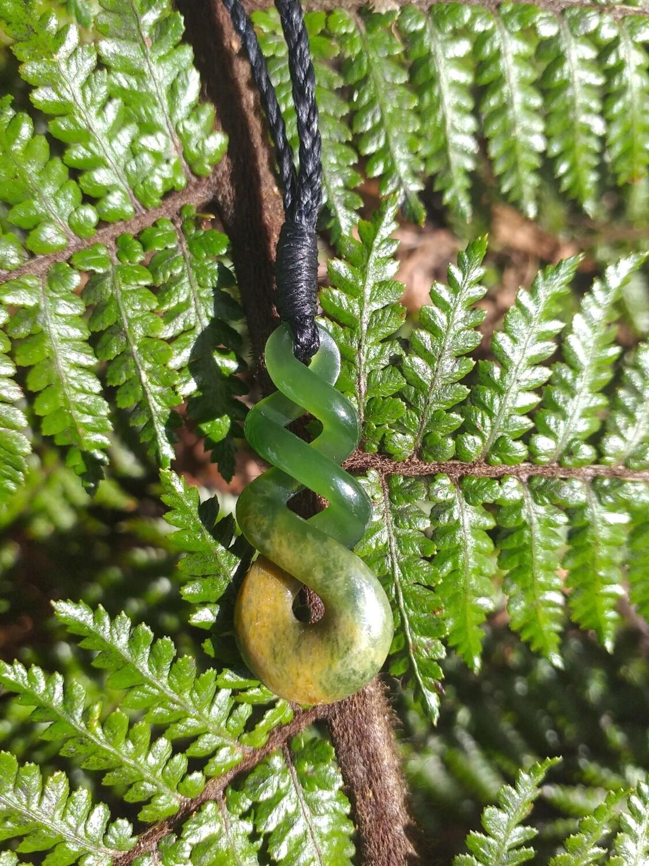 Flower Jade Twist Pendant