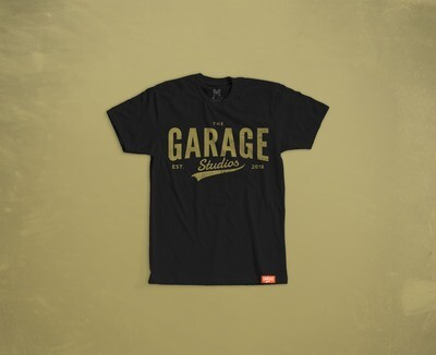 Garage Studios distressed print BLACK