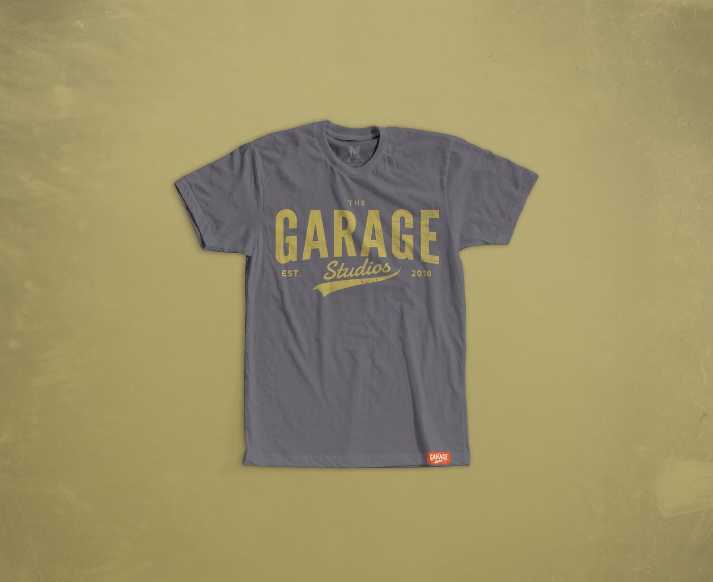 Garage Studios distressed print GREY