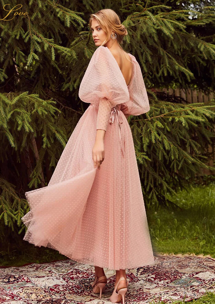 Satin Pink Prom Gown