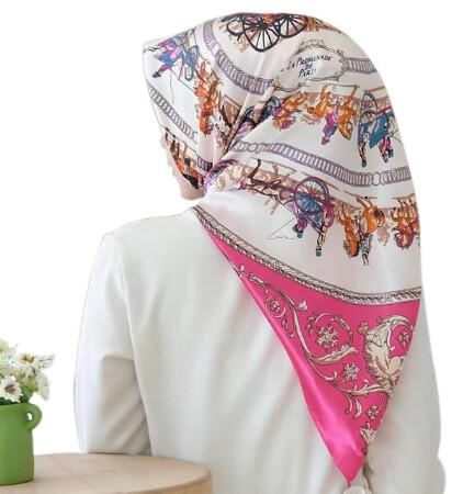 Women Hijab Colourful Scarf