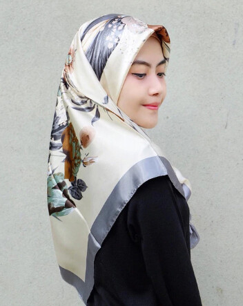 Women Hijab Colourful Silk Scarf
