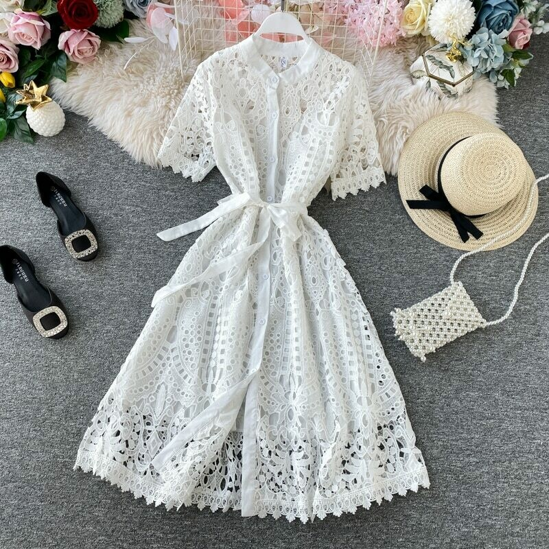 Women Lace Dress Spring