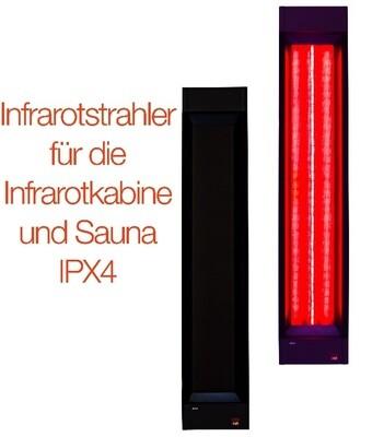 Infrarotstrahler für die Infrarotkabine oder Sauna, Vollspektrumstrahler zum Nachrüsten für die Wärmekabine oder Selberbauen einer Sauna, IPX 4, spritzwassergeschützt