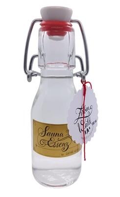 SAUNA-ESSENZ traditionell, Saunaufguss-Konzentrat mit ätherischen Ölen, Saunaduft in der Glasbügelflasche 100ml
