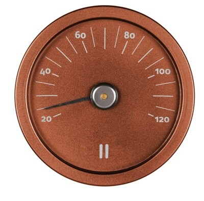 Sauna-Thermometer von Rento aus eloxiertem Aluminium, kupferfarben