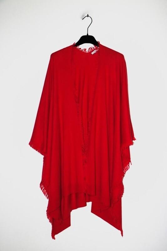 Amania Mo poncho rood
