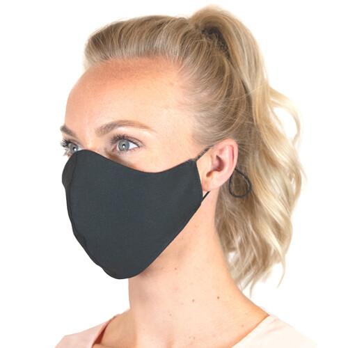 Zwarte herbuikbare mondmasker