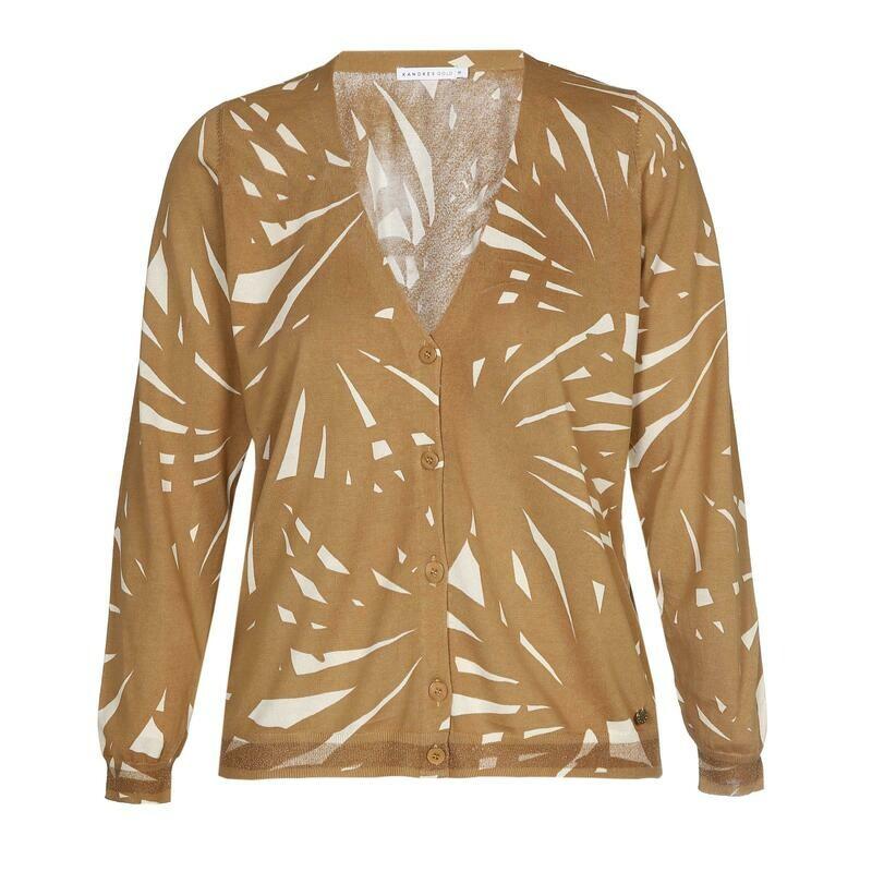 Xandres Gold Gilet print