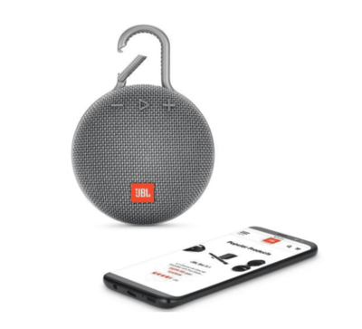 Parlante Bluetooth JBL Clip 3, Color Gris