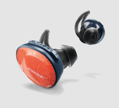 Audífonos Inalámbricos BOSE SoundSport Free, Color Orange/Navy