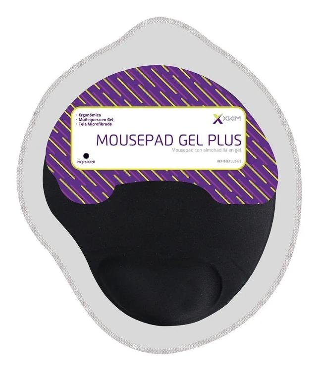 Pad Mouse Gel X-kim Cubierto En Tela Negra