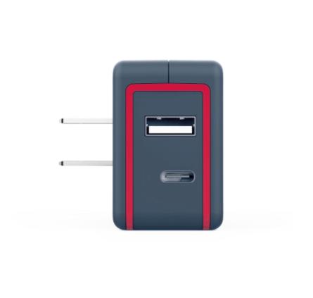 Adaptador de pared 57W Dual USB-A + USB-C PD 2.0