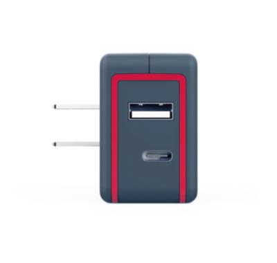 Cargador de pared 57W Dual USB-A + USB-C PD 2.0
