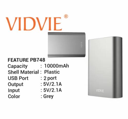 VIDVIE Powerbank PB748 10000 mAh