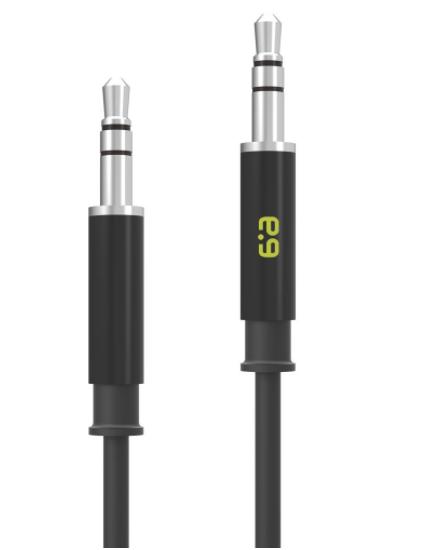 Cable de audio auxiliar de 3.5 mm, Color Negro