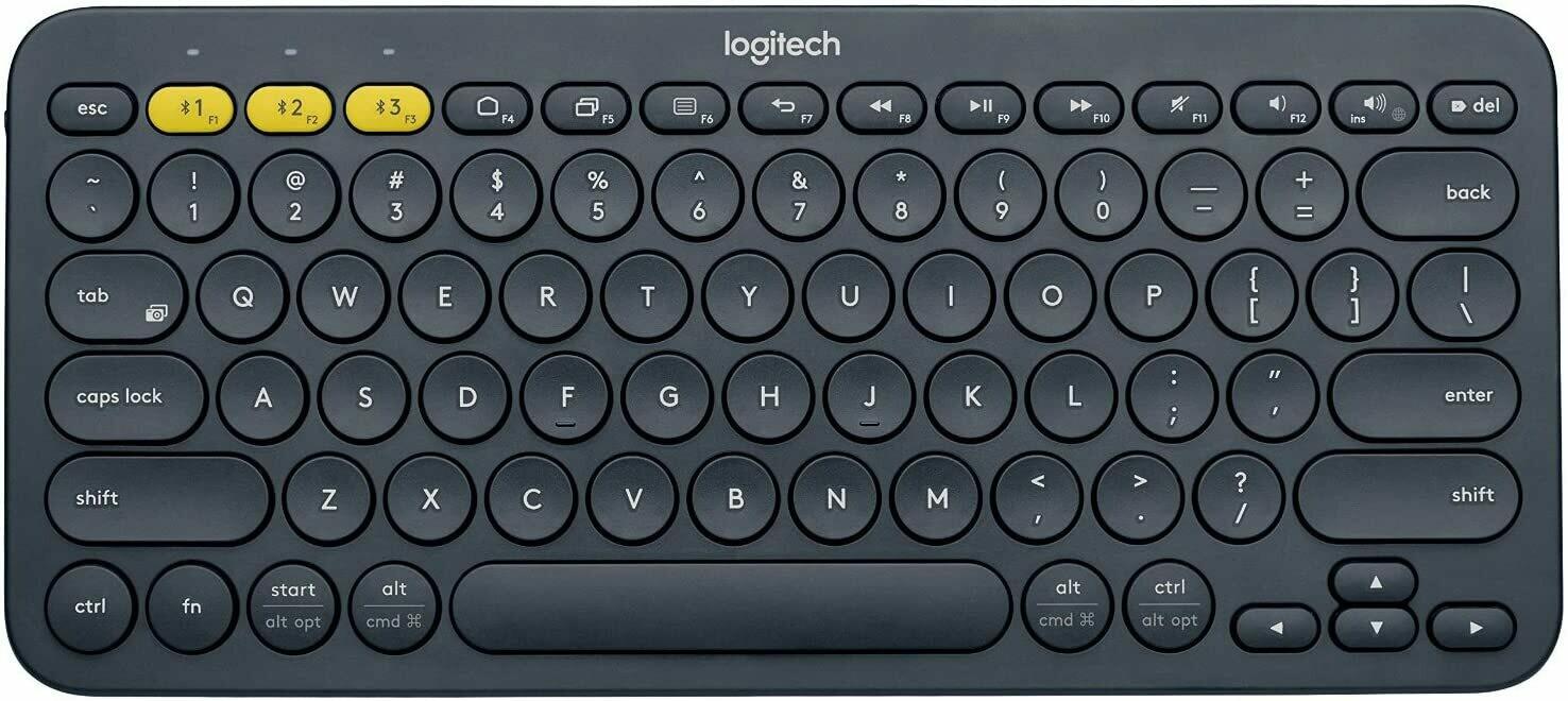 Logitech K380 79-key compacto multidispositivo inalámbrico teclado Bluetooth v3.0 (reacondicionado certificado)