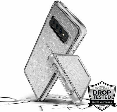 Case Prodigee Super Star para Samsung Galaxy S10, Color Plateado