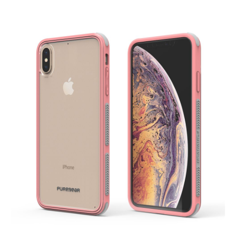Apple iPhone Xs Max DualTek Clear Case - Clear/Soft Pink