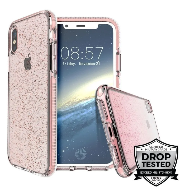 Funda iPhone XS Max Prodigee Super Star Rosa