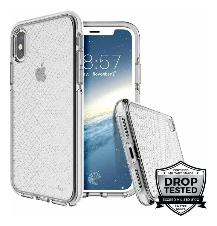 Prodigee Safetee iPhone XS Max - Color Silver