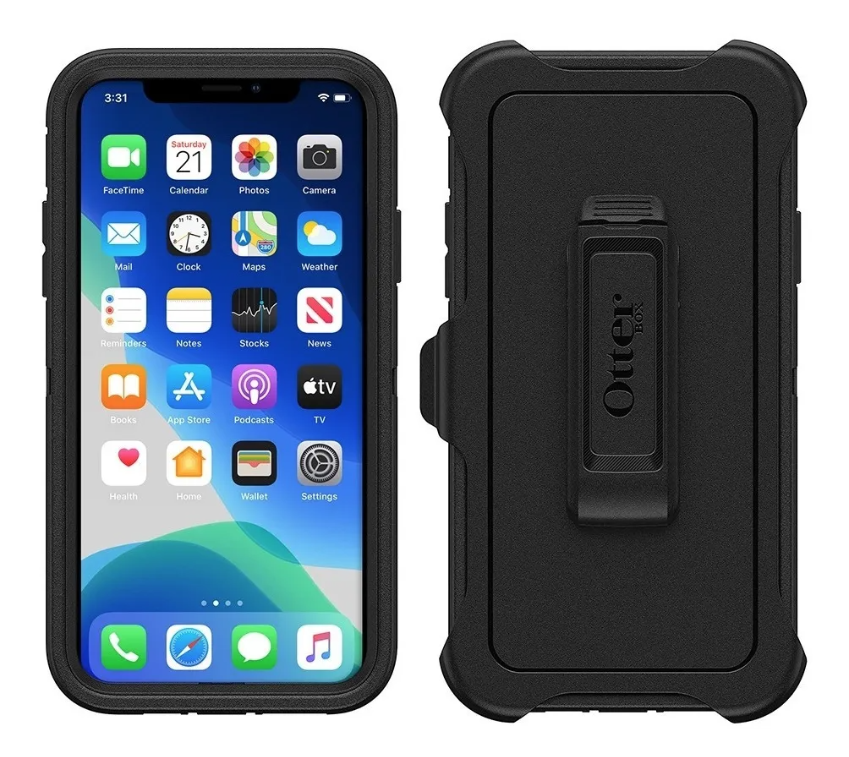 Cases OtterBox Defender iPhone 11, Color Negro