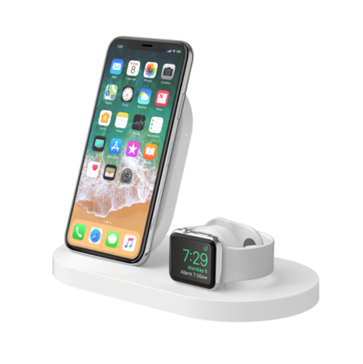 Base de carga inalámbrica BOOST ↑ UP ™ para iPhone + Apple Watch + puerto USB-A